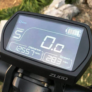 zugo rhino electric bike display
